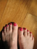 Nancie's toes about to start dancing